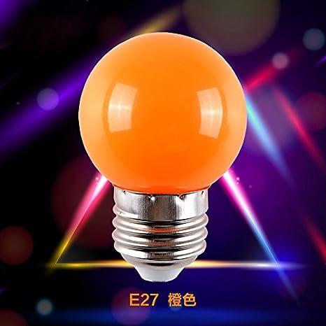 Bombilla LED E27 tornillo tipo E14 1 W 3 W bombillas, 1W Orange, e14, 1.0 wattsW 220.0 voltsV: Amazon.es: Iluminación