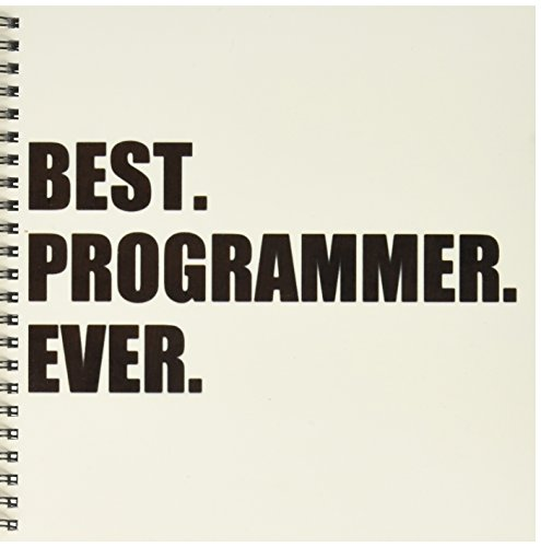 3dRose db_185015_1 Best Programmer Ever, Fun Gift for Talented Computer Programming, Text Drawing Book, 8 by 8-Inch