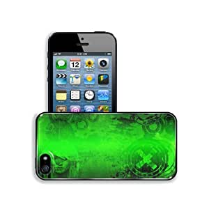 Abstract Green Color Woman Design Apple iPhone 5 / 5S Snap Cover Premium Aluminium Design Back Plate Case Customized Made to Order Support Ready 5 inch (126mm) x 2 3/8 inch (61mm) x 3/8 inch (10mm) MSD iPhone_5 5S Professional Metal Case Touch Accessories