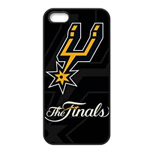 NBA Team San Antonio Spurs Print Black Case With Hard Shell Cover for Apple iPhone 5/5S