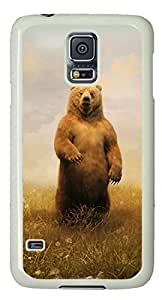 Bear Standing Masterpiece Limited Custom PC White Case for Samsung Galaxy S5 I9600 by Cases & Mousepads