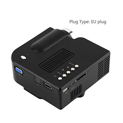 UC28 + Mini Portable 1080P HD Proyector Home Cinema Theater Interfaz HDMI actualizada Dispositivo de Entretenimiento en el hogar Reproductor Multimedia
