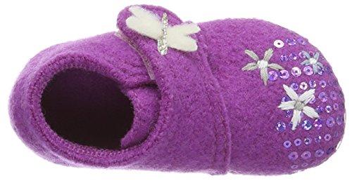 Living Kitzbühel Babyklett Blumenwiese Und Schmetterling - Botas de senderismo Bebé-Niños Morado - Violett (iris 371)
