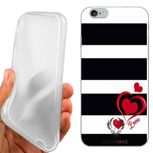 CUSTODIA COVER CASE LOVE STRIPES PER IPHONE 6 4.7 POLLICI