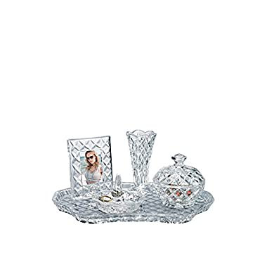 SHANNON CRYSTAL 5PC.VANITY SET