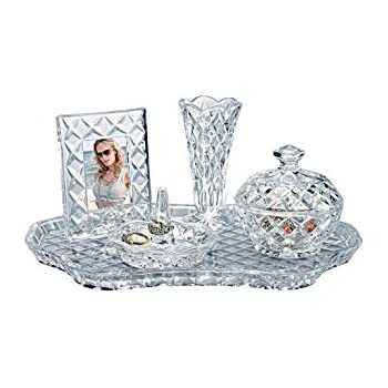 Amazon Com Shannon Crystal Vanity Set By Godinger Home