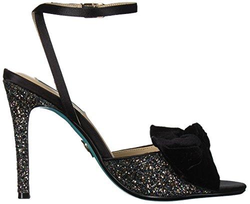 Blue Women's Black Jilly Betsey Johnson Sandal by Heeled Glitter Sb rqtgrx