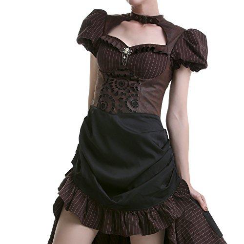 Schwarz-Braunes Kleid