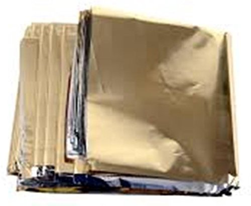 "Primacare FB 6831 Emergency Foil Silver & Gold Mylar Thermal Blanket, 62"" Length x 82"" Width (Pack of 10)"