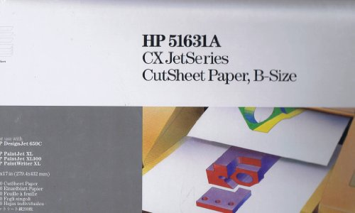 Price comparison product image HP 51631A CX JetSeries CutSheet Paper B-Size - 200 Sheets - For Use With HP DesignJet 650C, HP PaintJet XL, HP PaintJet XL300, HP PaintWriter XL