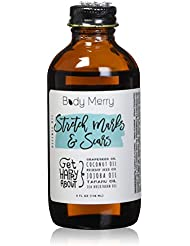 Body Merry Stretch Marks & Scars Defense Oil w Natural Coconut Oil + Rosehip + Jojoba + Tamanu + Sea Buckthorn to Combat Signs of Stretch Marks, Scars, Cellulite & Dry Skin