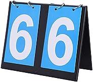 Portable Flip Sports Scoreboard Scoring Device, Two-Digit Scoreboard, Three-Digit Multi-Function Basketball Sc