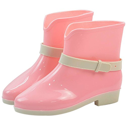 36 Popoye Rose de 5 Femme Chaussures Travail Wellington Rose OpRw0