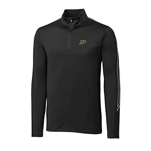 Cutter & Buck NCAA Michigan State Spartans Adult Men CB Drytec Pennant Sport Half Zip, X-Large, Black