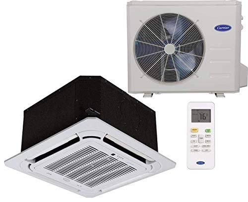 Carrier Single Zone Heat Pump (Cooling & Heating) Performance Series- Cassette Syle, Grille Included- 12,000 BTU. Indoor Unit- 40MBCQ12-3 Outdoor Unit- 38MAQB12R-3