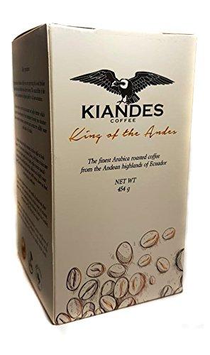 Kiandes Café - El rey de los Andes (café ecuatoriano) Fresco café tostado y tierra, 1: Amazon.es: Alimentación y bebidas