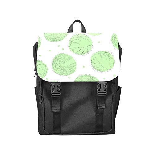 (Fashion Flip Cover Notebook Cabbage Vegetable Winter Food Creative Print Laptop Backpack Travel Men Women Business Computer Backpack Oxford Fabric Vintage School Shoulder Bag )