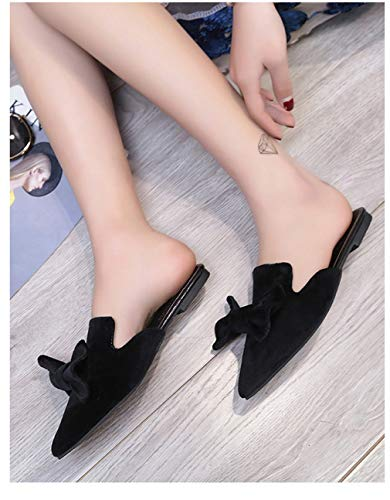 Chaussons Plates Pointus YUCH Black Chaussures pd6BUq