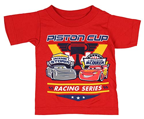 Disney T Shirt Cars Toddler Piston Cup Racing Lightning McQueen Jackson Storm 2T