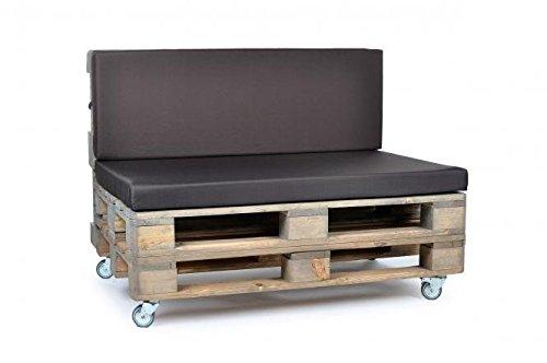 Palettenkissen, Gartenmöbel Auflagen, Sitzbankauflage, Matratzenauflagen auch m. Rückenlehne bzw. Dekokissen in Nylon, braun, wasserabweisend und strapazierfähig