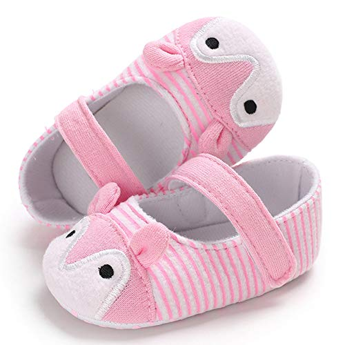 NUWFOR Infant Newborn Baby Girls Prewalker Cartoon Animal Ears Soft Sole Single Shoes(Pink,6~12 Month) by NUWFOR (Image #5)