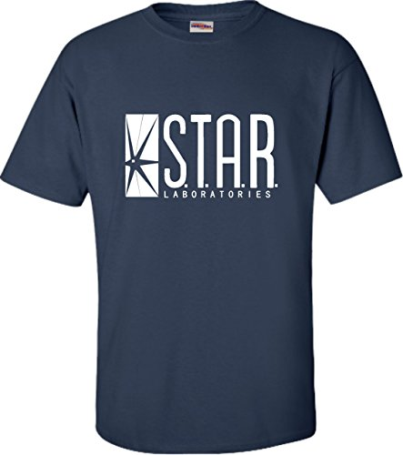 X-Large Navy Blue Adult Star Labs T-Shirt