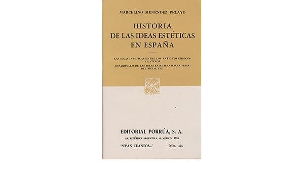 475. historia de las ideas esteticas de espana: Amazon.es ...