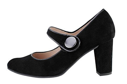 Confort Jane Amples Femme Chaussure 175205 en Negro Black PieSanto Cuir Confortables Mary 0wEFxqaRpa
