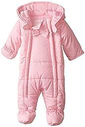 Pistachio Baby-Girls Newborn Embossed Ruffle Trim Pram, Pink, 6/9 Months