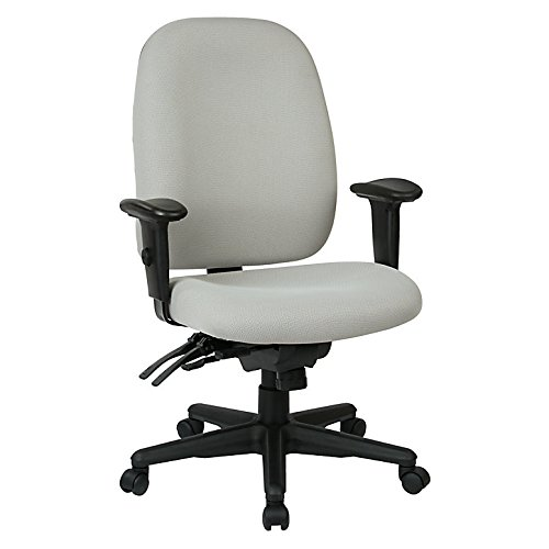 WorkPro 2000 Series Multifunction Fabric High-Back Chair, Gray/Black