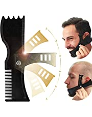 Beard Shaping Tool, Beard Shaper, TERSELY Adjustable Beard Trimming Guide with Comb and Styling Template,Beard Lineup Tool & Edger,Works with All Electric Trimmers, Razors or Clippers