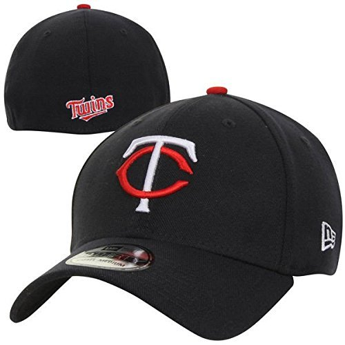 MLB Minnesota Twins Team Classic Home 39Thirty Stretch Fit Cap, Blue, Large/X-Large (Minnesota Twins Baseball Hat)