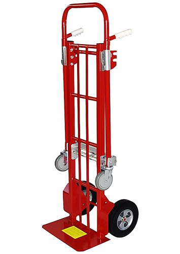 Milwaukee Hand Trucks 44180 Convertible Truck with 10-Inch Solid Puncture Proof Tires by Milwaukee