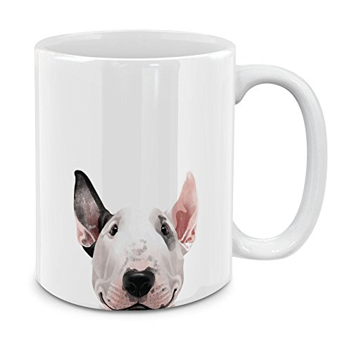 Terrier Mug Cup Coffee - MUGBREW Bull Terrier White Ceramic Coffee Mug Tea Cup, 11 OZ