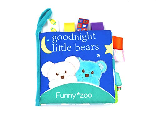 - FGen 0-2 Years Old Baby Bear Cloth Book Three-Dimensional Cloth Book Early Education Tear Bad Label Cloth Book Label Rattle Toy
