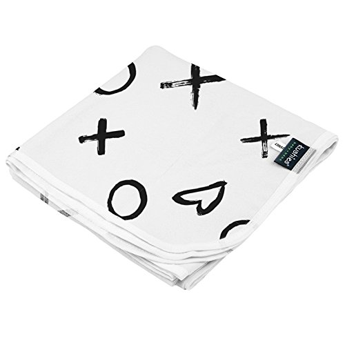 Kushies Receiving Blanket, XO Black & White