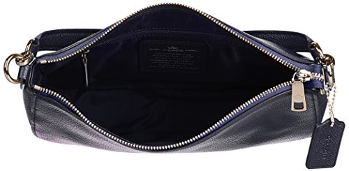 Coach Schultertasche Leder Damen Tasche Umhängetasche Bag blu