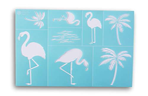 Stencil Palm Trees (Martha Stewart Crafts Flamingo Style Laser-Cut Stencil - 12 x 7.75 Inches)