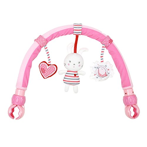 Strollers Rabbit Car Clip with Teethers Lathe Strap Toys for Beds