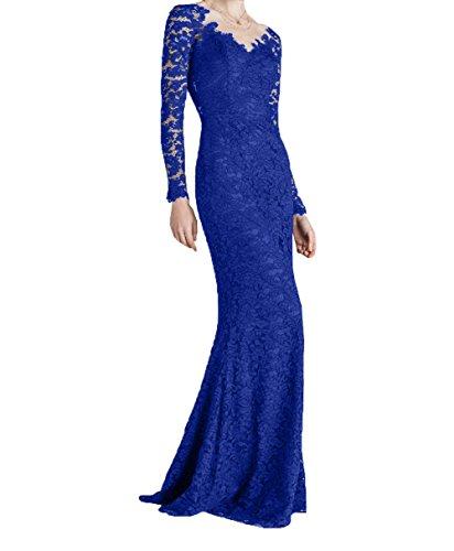 Fuer La Hochzeits Ballkleider Mit Durchsichtig mia Braut Blau Brautmutterkleider Traumhaft Royal Dunkel Langarm Abendkleider qxwSq0pr8