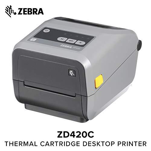 Zebra - ZD420t Thermal Transfer Desktop Printer for Labels and Barcodes - Print Width 4 in - 203 dpi - Interface: USB - ZD42042-T01000EZ by Zebra Technologies (Image #8)