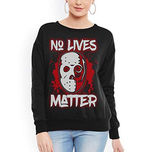 No Lives Matter Jason Mask Horror Halloween Unisex Sweatshirt- -