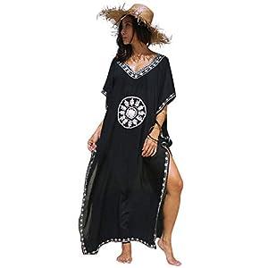 Landove Vestido Boho Mujer Largo Talla Grande Camisolas y Pareo Caftan | DeHippies.com