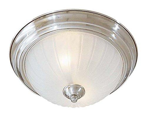 Minka Lavery 829-84-PL 2-Light Flush Mount, Brushed Nickel Finish