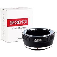 Beschoi Lens Mount Adapter, Pentax K PK Lens to M4/3 Micro 4/3 Mount Adapter Olympus PEN and Panasonic Lumix Camera Body