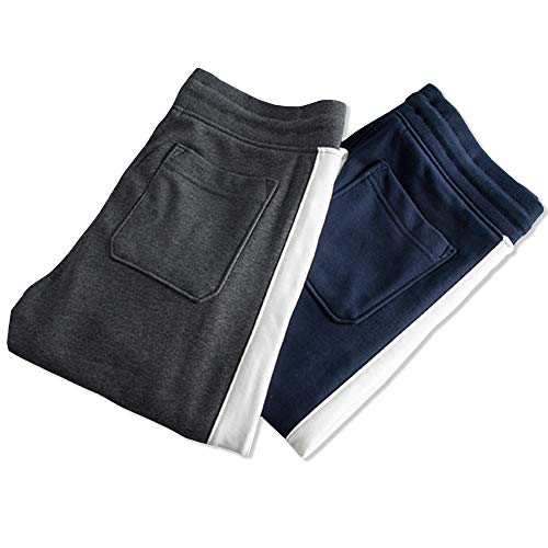 MAGCOMSEN Men's Joggers Sweatpants with 3 Zipper Pockets Regular Fit Closed Bottom Gym Workout Running Pants
