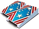 Patriotic USA Red White Blue Tabletop Cornhole