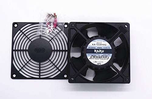 for Original KAKU KA1238HA2 220V 0.13A Metal Fan Blade High Temperature Fan