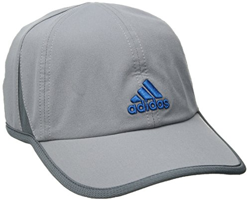 adidas Men's Adizero II Cap, Grey/Onix/Shock Blue, One Size Slouch Hat Cap