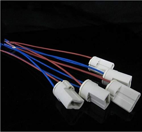 Halica G9 Lamp Holder with 20cm Cable G9 Ceramic Lamp Socket Base 10PCS